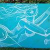 Wasser, Blau, Frau, Zeichnungen