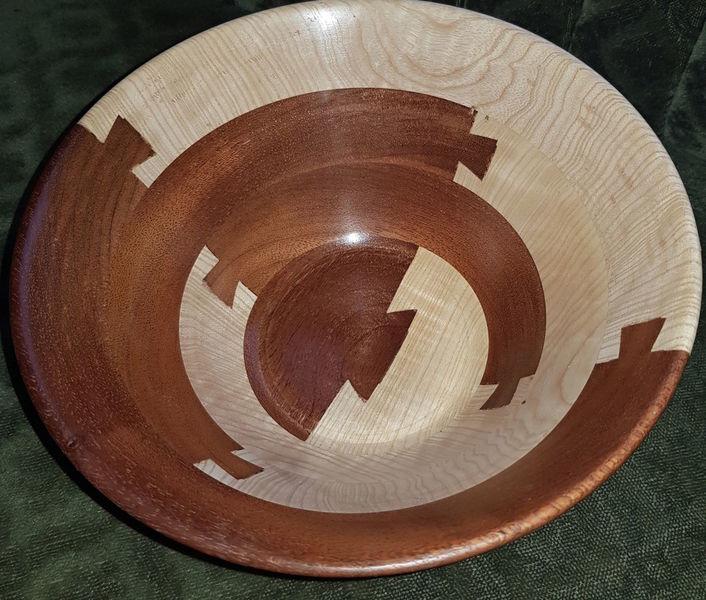 Holzobjekt, Skulptur, Schale, Holzschale, Esche, Holz