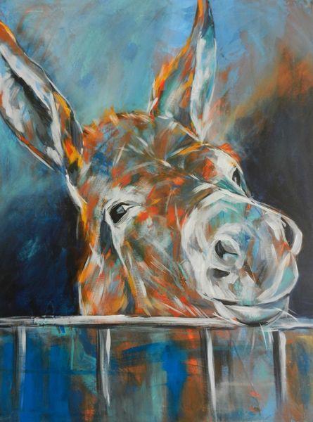 Esel, Malerei, Acrylmalerei, Farben, Geschenk, Verschenken