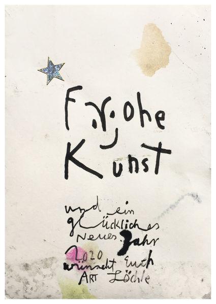 Yes, Postkarte, Yesart, Mischtechnik,