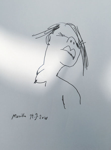 Skizze, Meine schwester, Monika, Zeichnungen