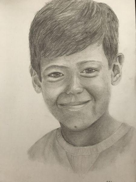 Bleistiftzeichnung, Portrait, Zeichnung, Junge, Zeichnungen