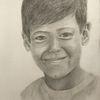 Portrait, Zeichnung, Junge, Bleistiftzeichnung