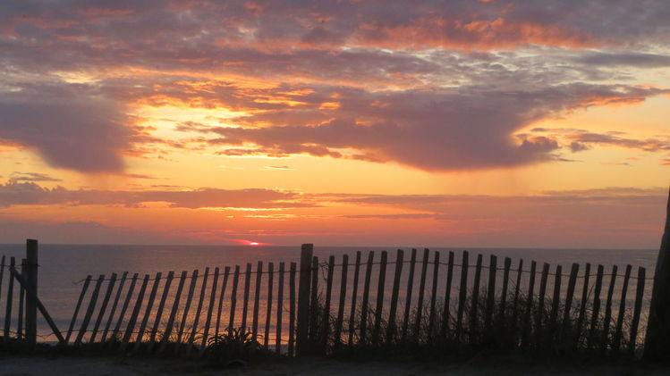 Meer, Stimmung, Orange, Sonnenuntergang, Abend, Licht