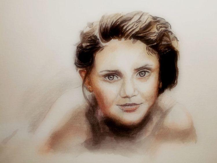 Gesicht, Augen, Portrait, Frau, Malerei