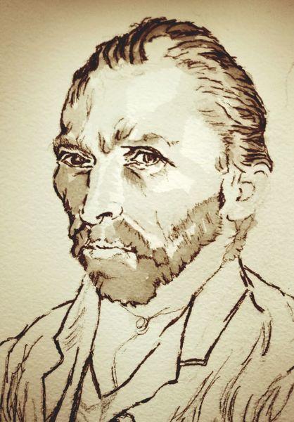 Gogh, Portrait, Zeichnungen,