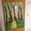 Wald, Mondlicht, Acrylmalerei, Malerei