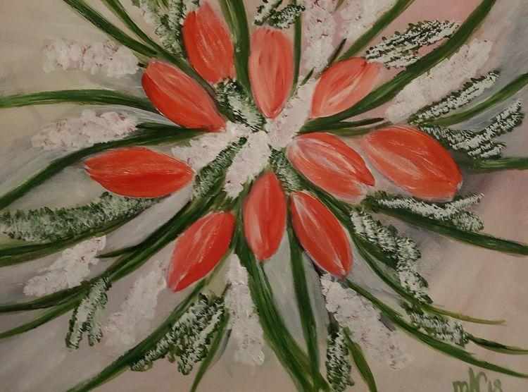 Tulpen, Acrylmalerei, Blumen, Malerei