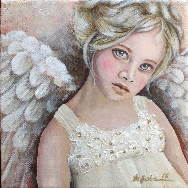 Menschen, Engel, Flügel, Gemälde, Acryl acrylmalerei, Modern art