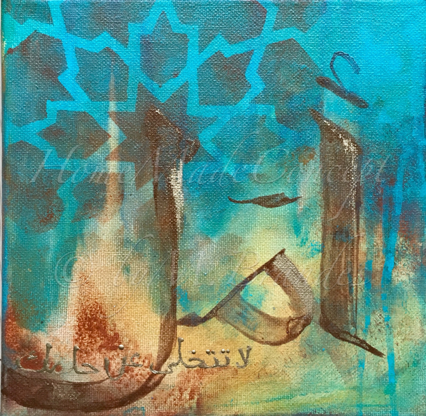 Gemälde, Türkis, Blau, Gold, Malerei modern, Geschenk