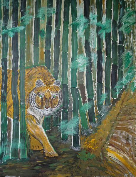 Malerei acryl, Acryl acrylmalerei, Malerei, Tiger