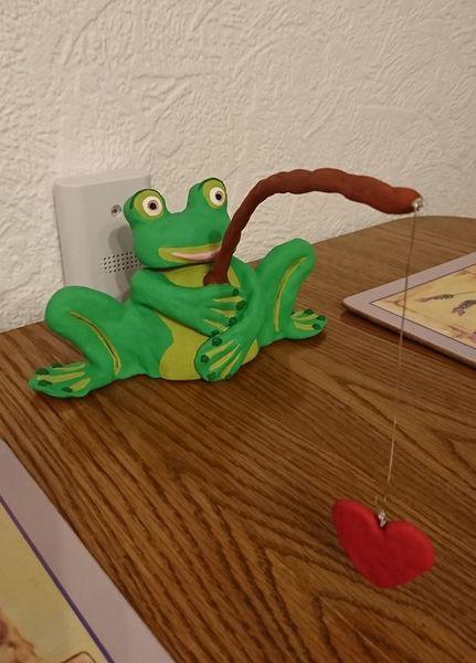 Grün, Frosch, Tiere, Kunsthandwerk, 3d, Herz