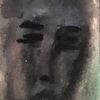 Portrait, Dame, Gesicht, Malerei