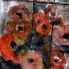 Blumen, Strauß, Rot, Malerei