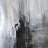 Unterwegs, Menschen, Grau, Malerei