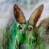 Hase, Grün, Ostern, Malerei