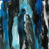 Menschen, Blau, Schwarz, Malerei
