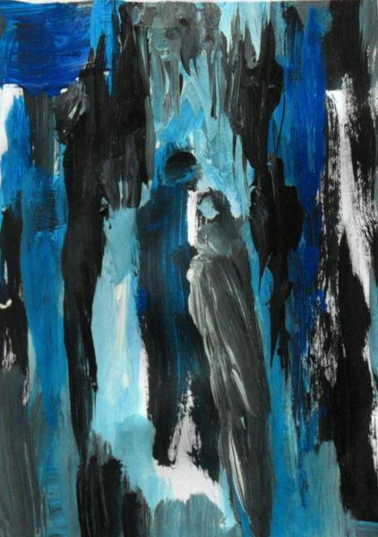 Blau, Schwarz, Menschen, Malerei