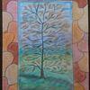 Aquarellmalerei, Pastellmalerei, Baum, Mosaik