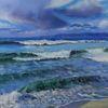 See, Wolken, Wasser, Küste himmel