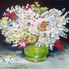 Blumenstrauß, Acrylmalerei, Stillleben, Vase
