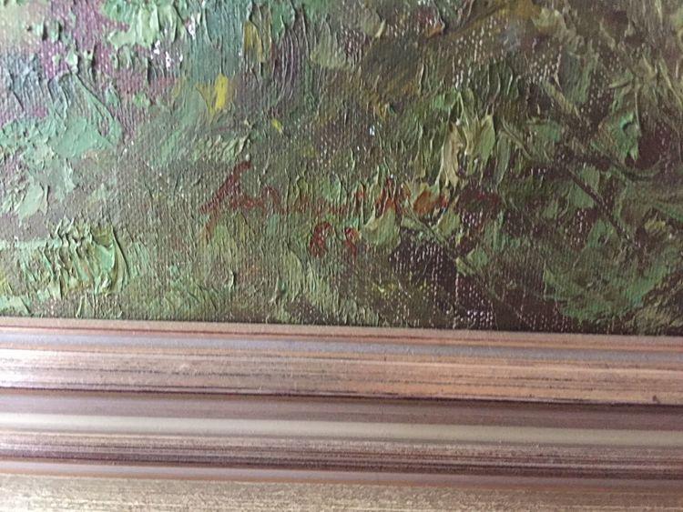 Pinnwand, Signatur, Flusslandschaft