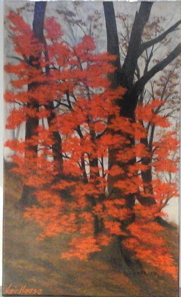Wandbild, Ölmalerei, Bilder mit bäumen, Bilder hand gemalt, Braun, Impressionismus