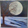 Baum, Wand bilder, Braun, Ölmalerei