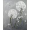 Hand gemalte pusteblumen, Bilder schwarz weiß, Unikate gemalt, Ölmalerei