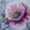 Wandbild, Rosa, Esszimmer, Zeitgenössisch