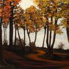 Acrylmalerei, Wandbild, Modern, Wald