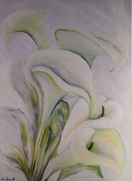 Wunschbild, Wandbild, Callas, Acrylmalerei, Malen, Vom künstler