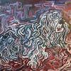Malerei, Acrylmalerei, Spaghetti, Hund