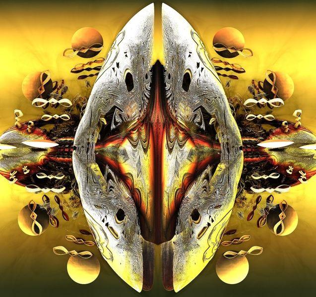 Alien, Abstrakt, Drache, Digitale kunst