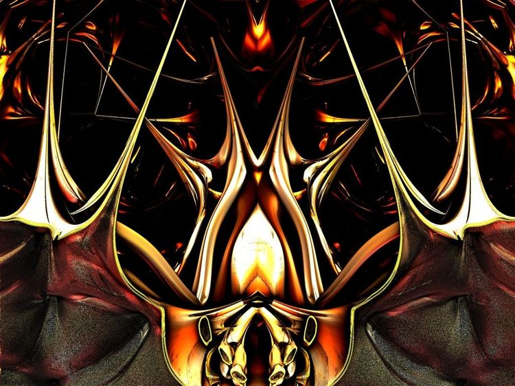 Universum, Abstrakt, Feuer, Digitale kunst