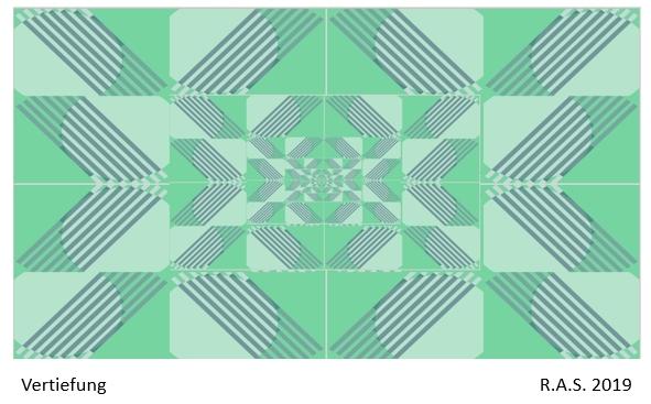 Kreis, Kachel, Repetition, Streifen, Konkrete kunst, Aquarell