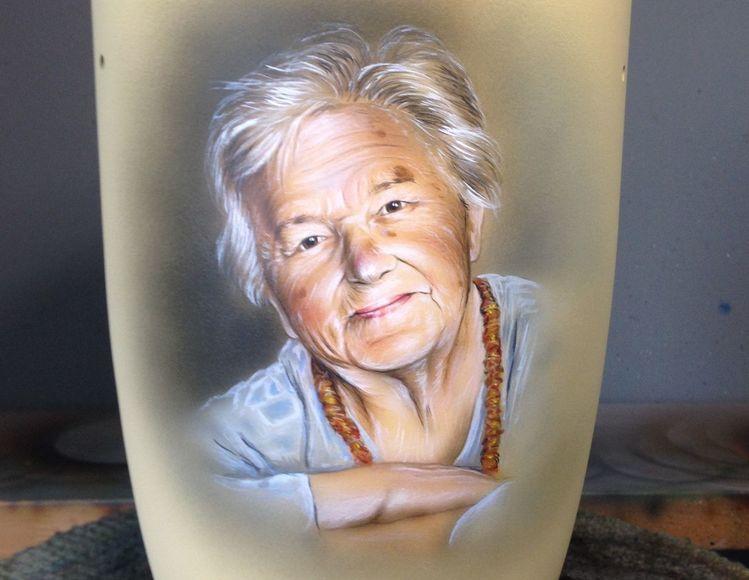 Portrait, Airbrush, Acrylmalerei, Malerei