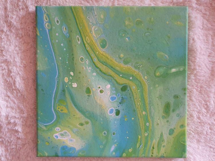 Mischtechnik, Farben, Abstrakt, Acrylmalerei, Pouring