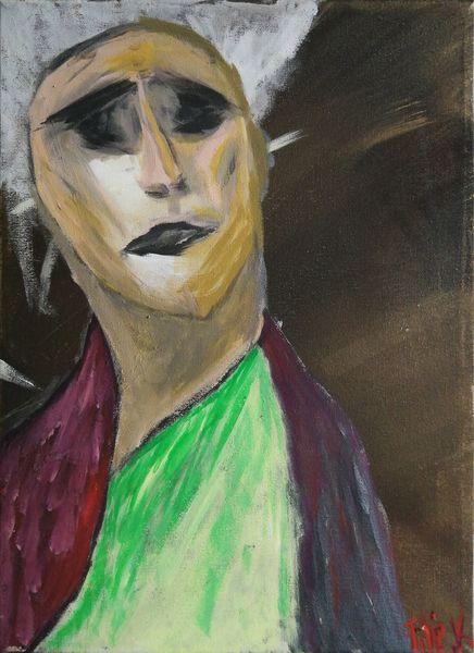 Acrylmalerei, Farben, Malerei, Gesicht