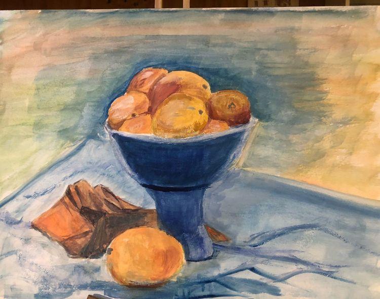 Orange, Gouachemalerei, A 2, Malerei