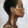 Din a4, Afrikanerin, Polychromos, Zeichnungen
