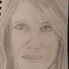 Frau, Tochter, Bleistiftzeichnung, Zeichnungen