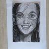 Frau, Bleistiftzeichnung, Glück, Zeichnungen