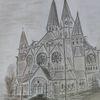 Ringkirche, Wiesbaden, Skizze, Zeichnungen