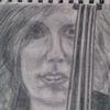 Violine, Skizze, Bleistiftzeichnung, Zeichnungen
