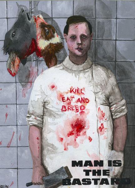 Fleisch, Tierkinder, Tod, Malerei