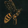 Bombe, Biene, Umwelt, Druckgrafik