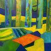 Abstrakt, Komposition, Landschaft, Malerei