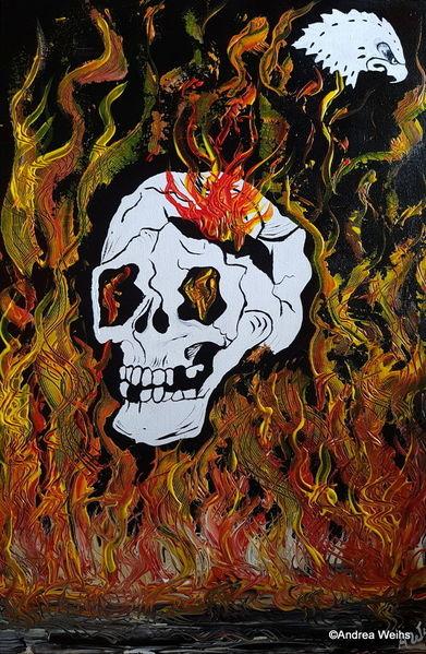Malerei, Gelb, Feuer, Bronze, Gold, Angst