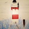 Weiß, Acrylmalerei, Leuchtturm, Meer